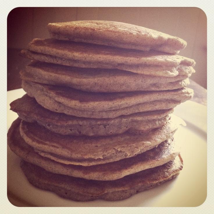 Wild rice & flax coconut oil pancakes   Coconut oil   Pinterest