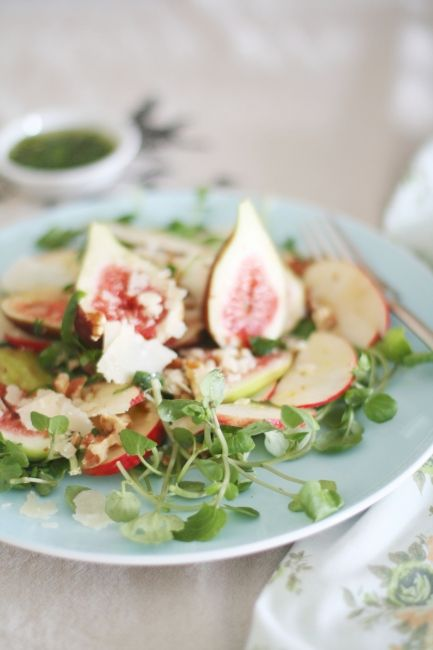 fig apple and watercress salad | A Splash of Vanilla