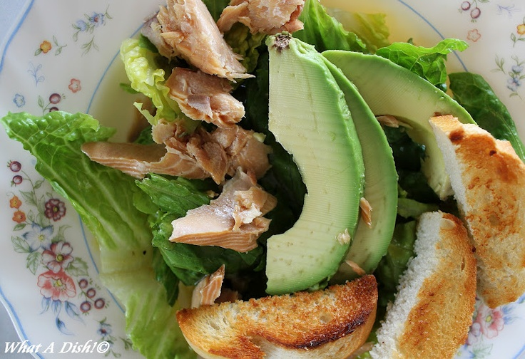 Buttered Crouton Salad with Avocado & Smoked Salmon