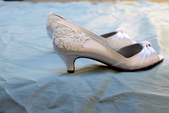 Ivory Wedding shoes Low heel 1.75 heel by TheCrystalSlipper