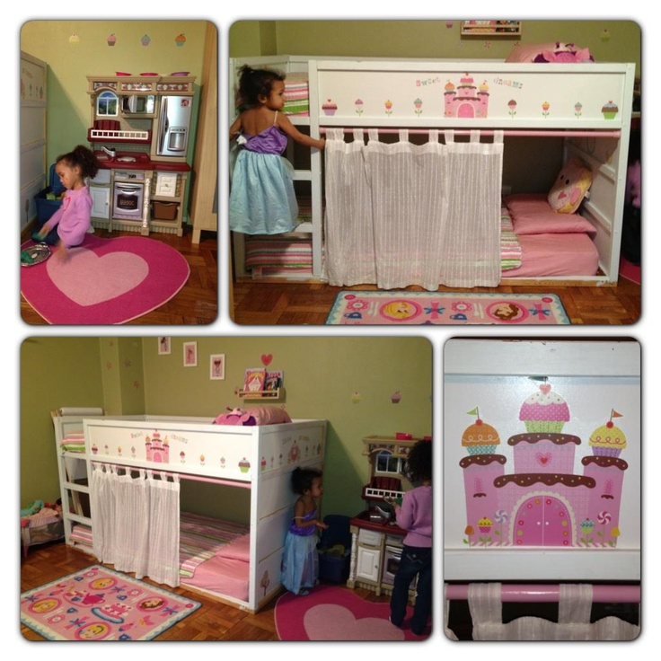 my ikea bed hack girls room makeover girls room ideas pinterest