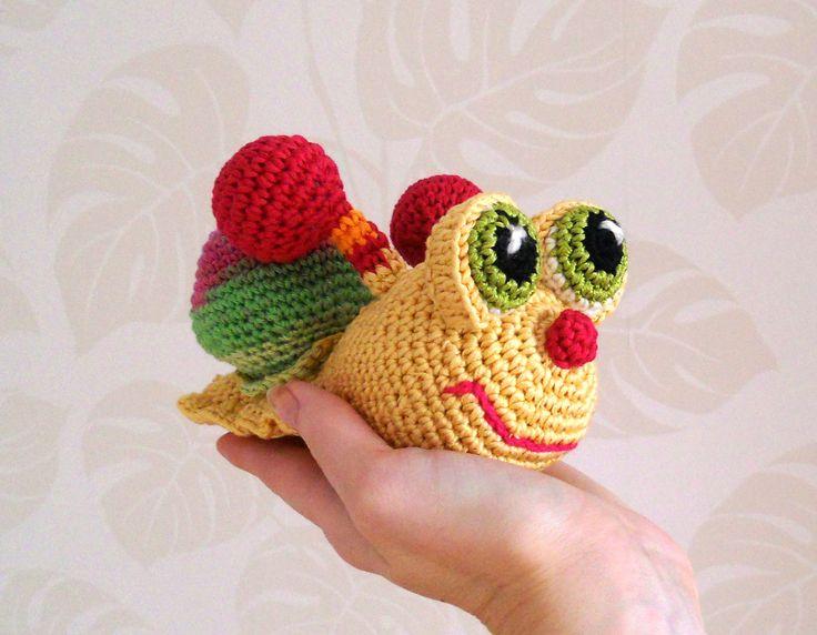 Crochet Toy, Crochet Snail , Amigurumi Snail, Amigurumi ...