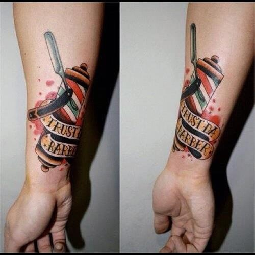 Uploaded to PinterestBarber Tattoo