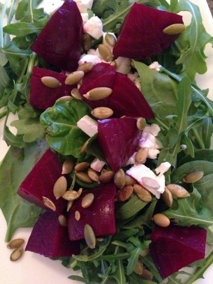 Roasted Beet, Arugula and Feta Salad | Healthy, Easy, Yummy | Pintere ...