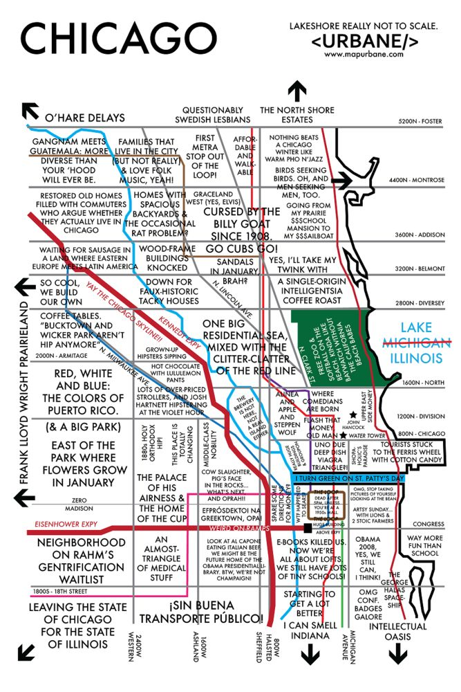 Chicago Neighborhoods Map  WORDS Amp Illustrations  Pinterest