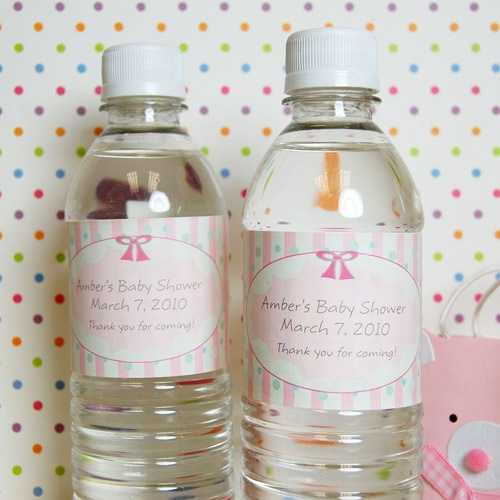 personalized baby shower drink labels by beau coup
