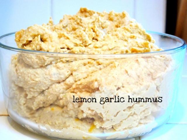 Homemade lemon garlic hummus | Yummy Food | Pinterest