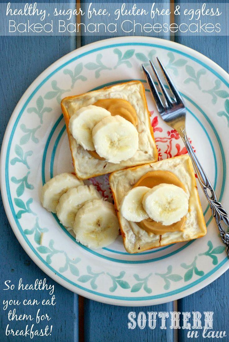 Healthy Baked Banana Cheesecakes Recipe - Breakfast Cheesecakes ...