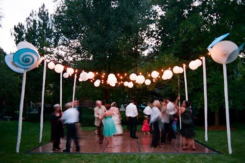 Outdoor dance floor wedding bridal ideas pinterest for Outdoor dance floor ideas