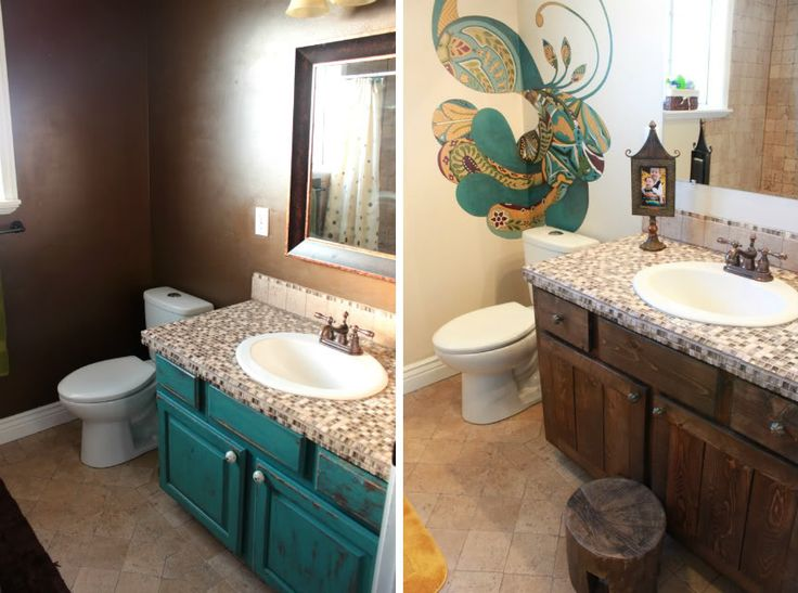 before and after peacock bathroom a beautiful home a