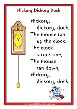 Nursery Rhyme Printables With Pictures Reading Ideas