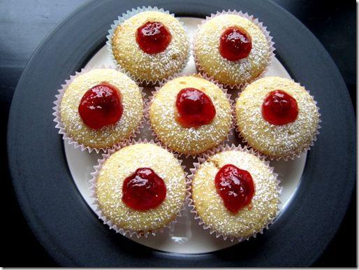 Jelly donut cupcakes.