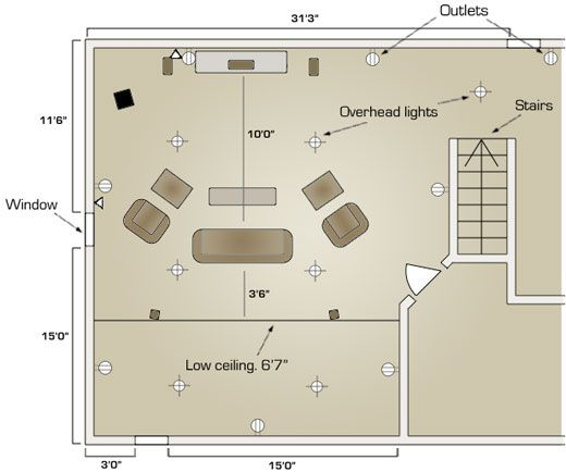 Home Theater Room Floor Plans Take A Look At A Floor Plan For A