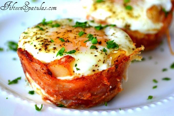 Mini Bacon Egg and Toast Cups   Recipe