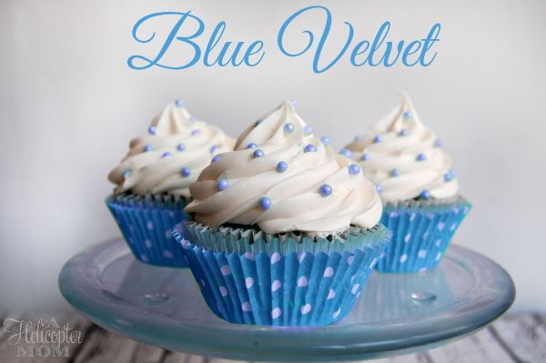 """Blue Velvet Cupcakes with Easy Vanilla Buttercream Frosting   """"These Look Amazing.,Yummy and Delicious!"""" ."""