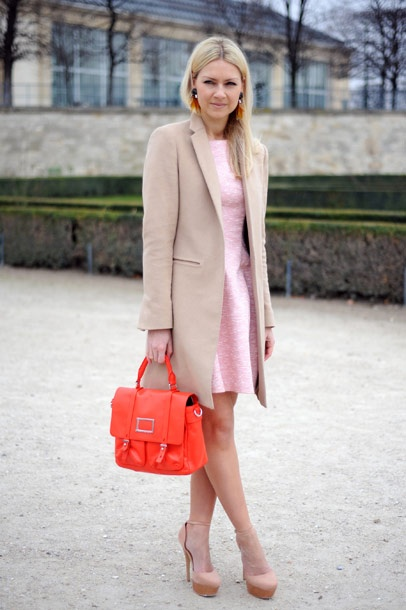 pastels with a pop of color