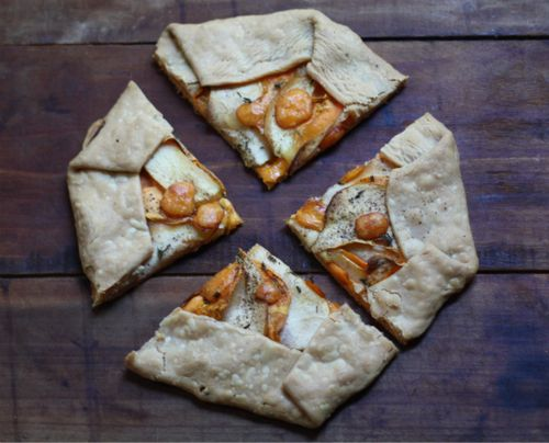 timvidraeats: Sweet Potato Thyme Apple and Cheddar Tart