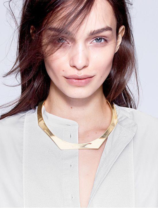 J.Crew women's shaped choker necklace.