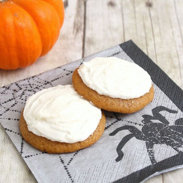 Pumpkin Cookies with Brown-Butter Icing | Let's Eat! | Pinterest