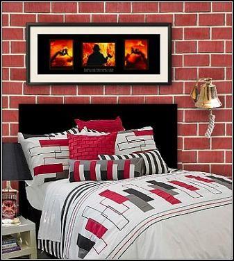 bedroom decorating fire truck theme beds firemen bedroom ideas