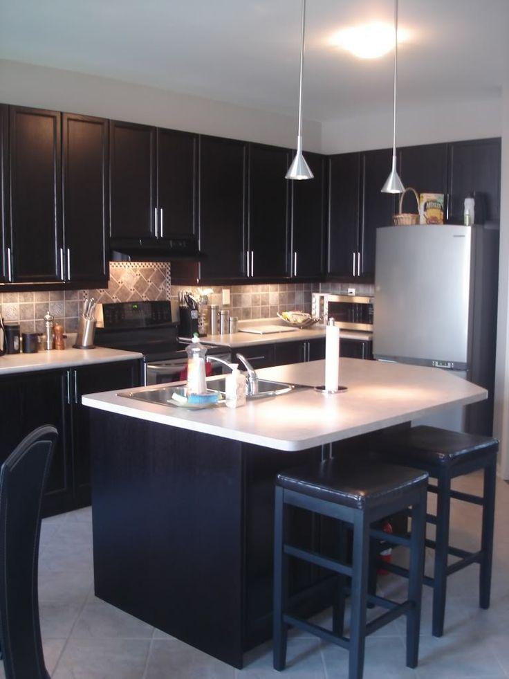 , dark cabinet, light countertops  my kitchen is going to have dark