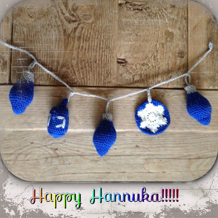 Hanukka Crochet Garland free Pattern Hanukkah Decor ...