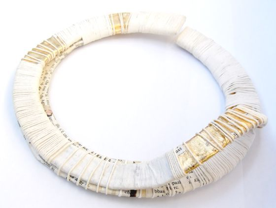 jewellery made from recycled paper by Italian artist Mary Frances Batzella