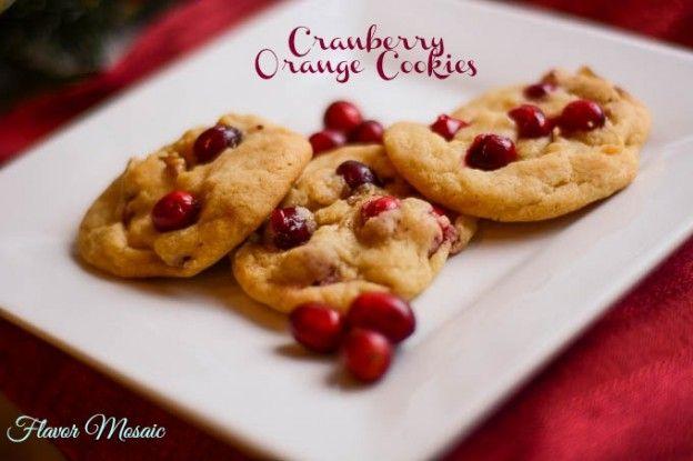 Cranberry Orange Cookies | Flavor Mosaic | #cookies #homemadeholiday