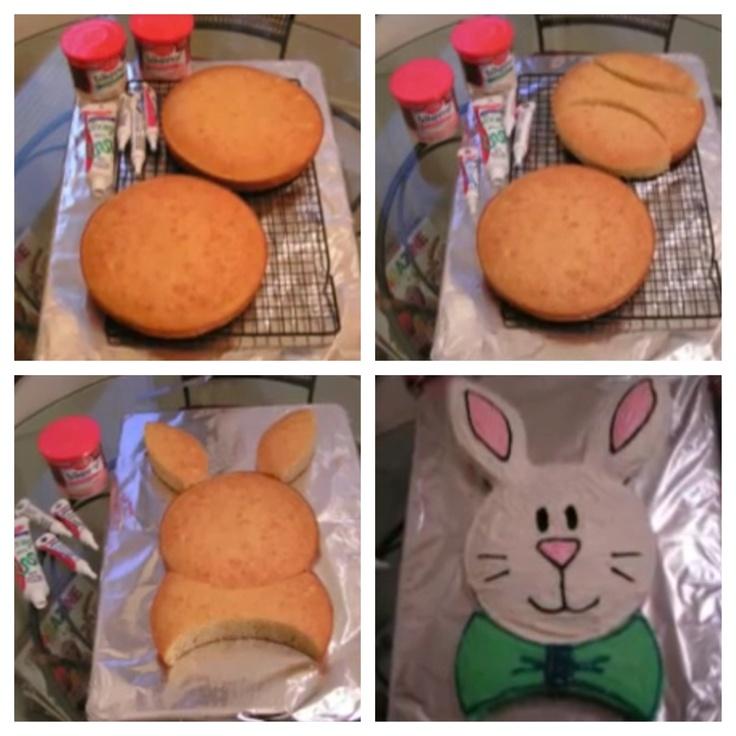 Easy bunny rabbit cake for Easter!!!  