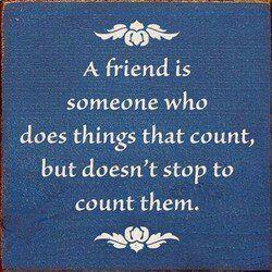 True friendship. ♥