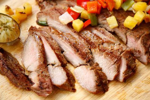 Grilled Pork Tenderloin with Pineapple and Bell Peppers | Recipe