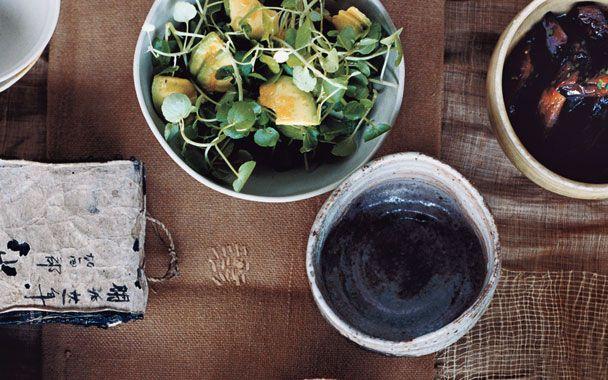 Avocado and Watercress Salad: 2000s Recipes + Menus : gourmet.com