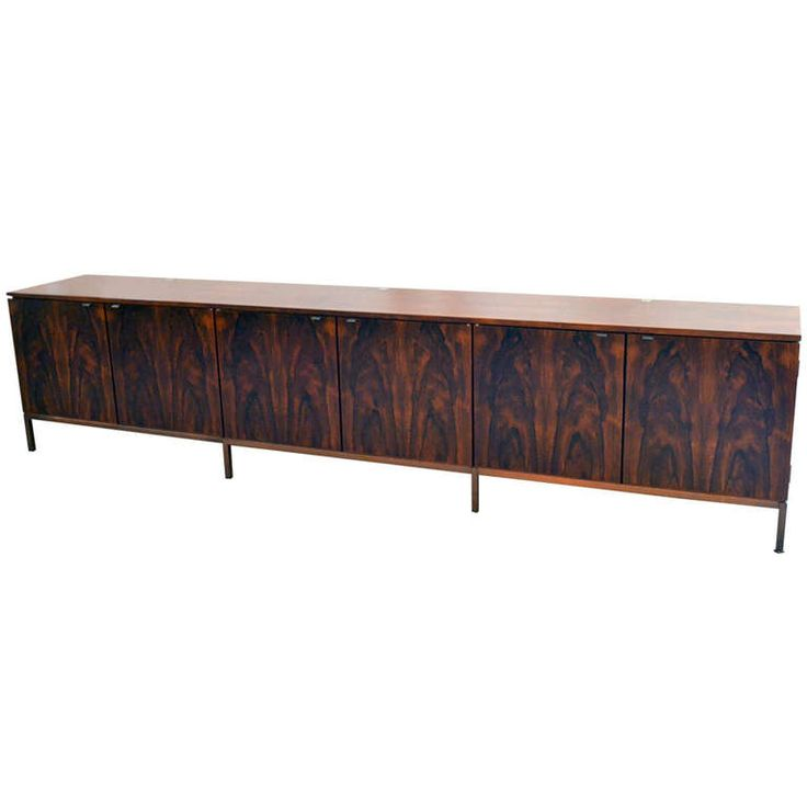 Spectacular Nine Foot Long Rosewood Knoll Credenza