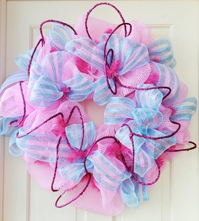 Party Ideas by Mardi Gras Outlet: Pink Deco Mesh Wreath: Video Tutorial & Giveway Results