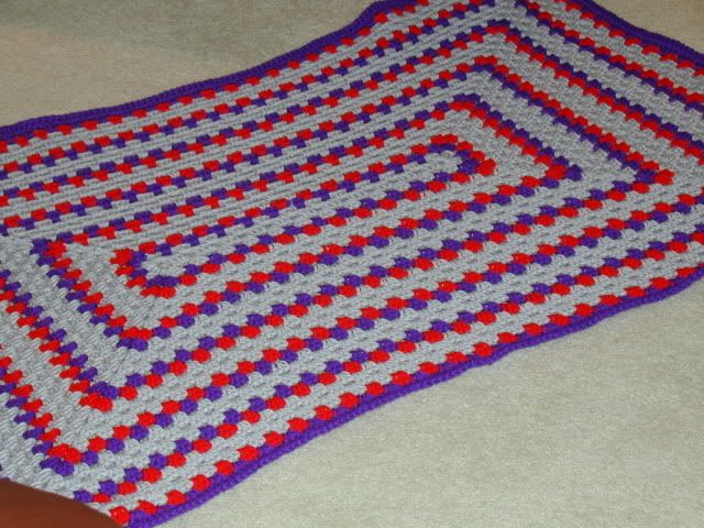 Crochet Patterns Rectangle : Rectangular granny afghan Crochet Pinterest