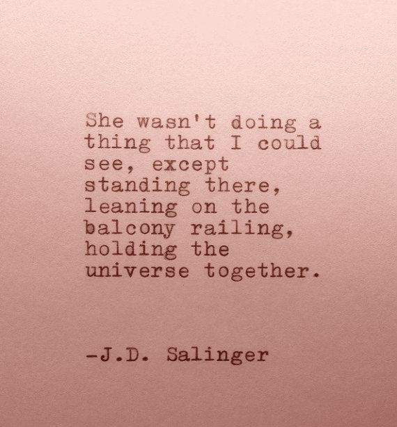 Just holding the universe together ...
