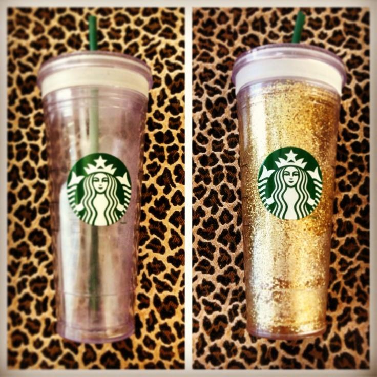 Diy glitter starbucks cup artsy fartsy pinterest