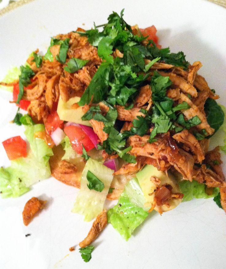 Chicken Tostada Salads | Dips/Salads | Pinterest