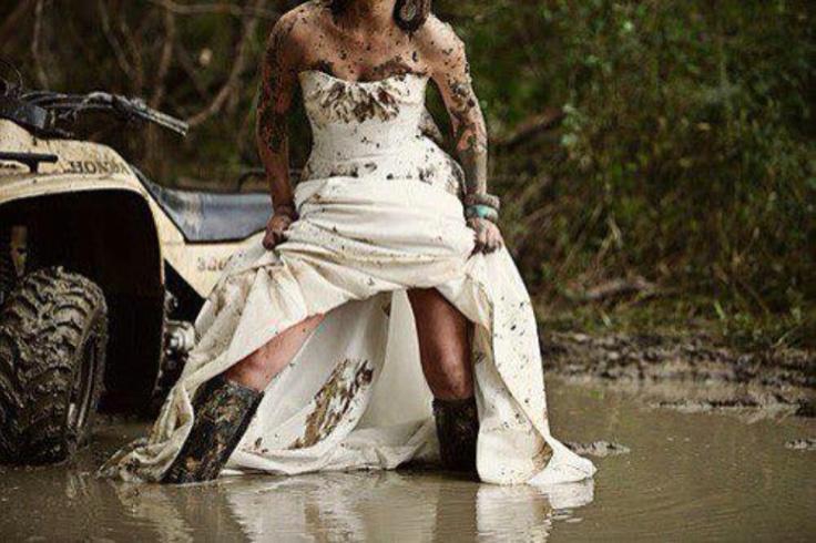 Trash The Dress Mud Yesss Down The Aisle Pinterest