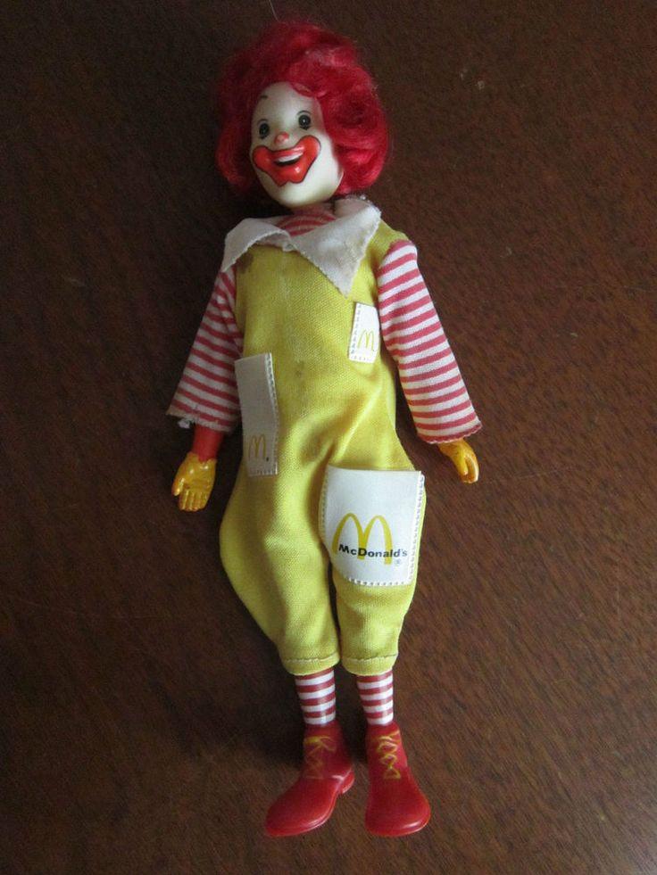 weird creepy ronald mcdonald doll figure 1976 vintage