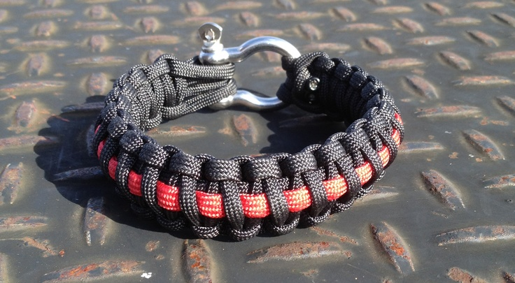 The Thin Red Line Survival Apparatus.  This is to show your support for our firefighters.  For more information please email me at brad.clark@paracord-survival.com