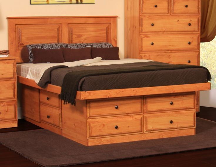 Gothic Cabinet Craft - Riverdale Platform Storage Bed, Queen, $849.00 ...