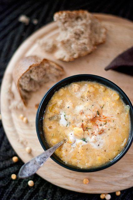 Split Pea and Sausage Soup | My Polska Love | Pinterest