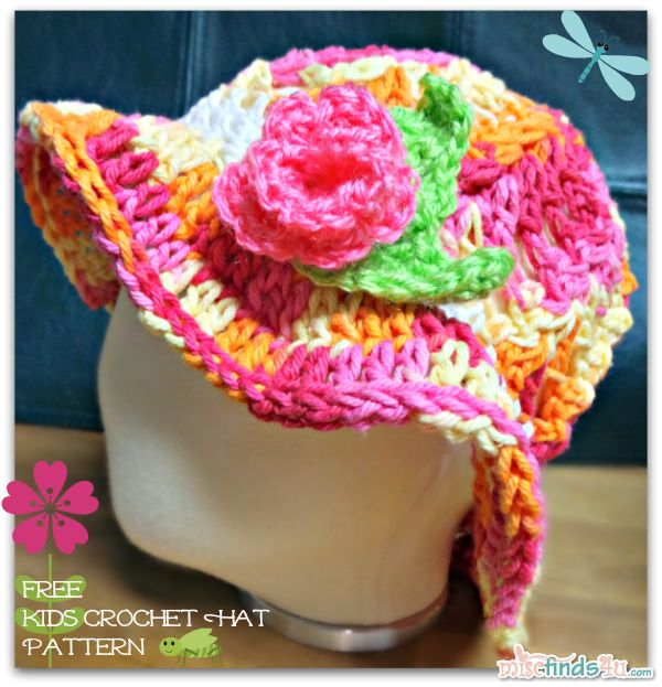 Crochet How To ? Free Kids Sun Hat or Easter Bonnet Pattern