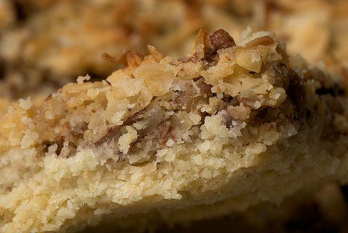Coconut Pecan Shortbread Squares | Recipe