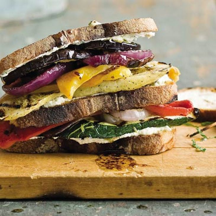 Grilled Portobello & Goat Cheese Sandwiches Recipe — Dishmaps