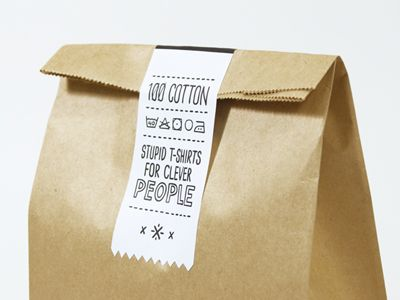 Stupid t shirt packaging cool packaging pinterest for Cool t shirt packaging