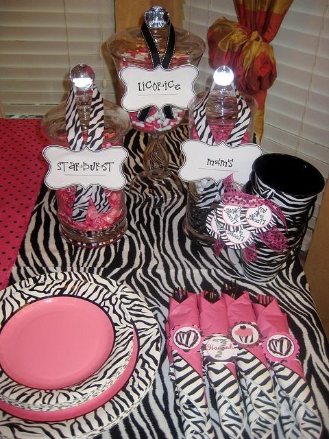 Hello Kitty Zebra Birthday Party Ideas