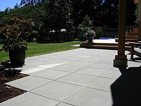 Square pavers patio backyard patio deck ideas pinterest for Large patio design ideas