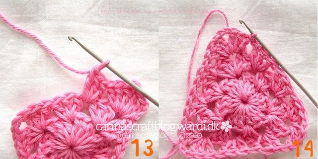 Crochet Triangle : Crochet triangle tutorial CROCHET Pinterest